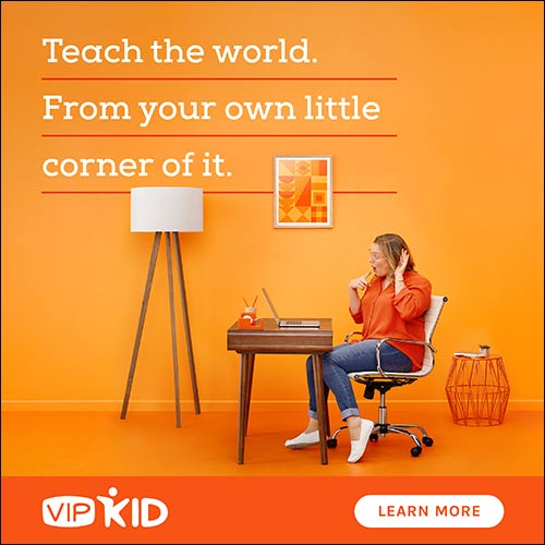Teach from home with VIPKID